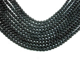 Matte Black Onyx Beads, 6mm Faceted Round-Ebeader