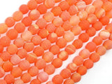 Frosted Matte Agate- Orange, 6 mm Round Beads-Ebeader