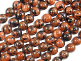 Gold Blue Sand Stone Beads, 10mm Round Beads-Ebeader