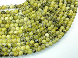 Yellow Turquoise Beads, 6mm Round Beads-Ebeader