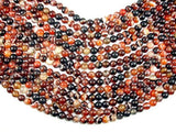 Banded Agate Beads, Sardonyx Agate Beads, 8mm(8.2mm) Round-Ebeader