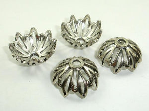 Bead Caps, Jewelry Findings, Zinc Alloy, Antique Silver Tone-Ebeader