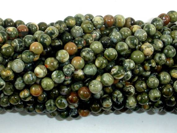 Rhyolite Beads, 4mm (4.6mm) Round Beads-Ebeader