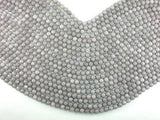 Jade Beads, Light Gray, 6mm Faceted Round-Ebeader