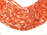 Banded Agate Beads, Red & Orange, 6 mm Round-Ebeader