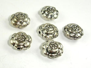 Flower Spacer, Flower Beads, Zinc Alloy, Antique Silver Tone 20pcs-Ebeader