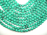 Howlite Turquoise Beads-Green, 10mm Round Beads-Ebeader