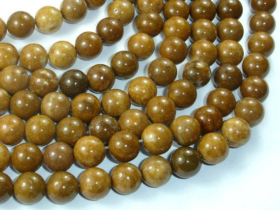 Agate Beads-Brown, 10mm(10.4mm) Round-Ebeader