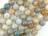 Bamboo Leaf Agate, 10mm Faceted Round Beads-Ebeader