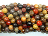 Mixed Wood Beads, 8mm Round Beads-Ebeader