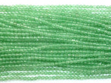 Green Aventurine, 4mm Faceted Round Beads-Ebeader