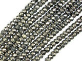 Pyrite Beads, Faceted Rondelle, 4 x 6 mm-Ebeader