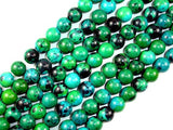 Chrysocolla, 10 mm Round Beads-Ebeader