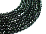 Green Goldstone Beads, 6mm Round Beads-Ebeader