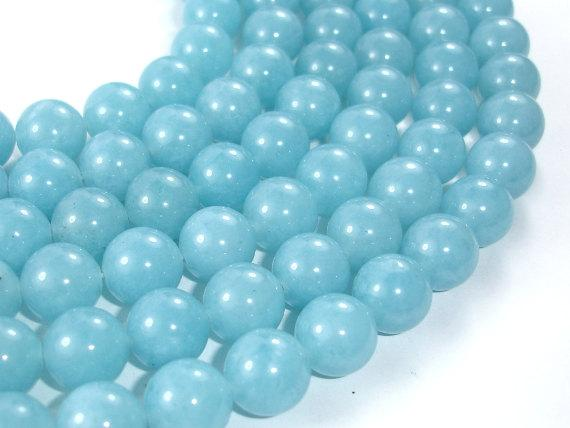 Blue Sponge Quartz Beads, Round, 12mm-Ebeader
