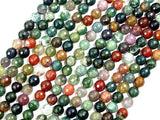 Indian Agate Beads, Fancy Jasper Beads, Faceted Round, 8mm-Ebeader