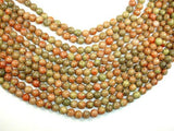 Chinese Unakite Beads, Round, 8mm-Ebeader