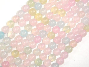 Agate Beads, Multi color, 8mm Round Beads, 15 Inch-Ebeader