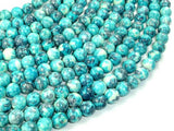 Rain Flower Stone Beads, Blue, 8mm Round Beads-Ebeader