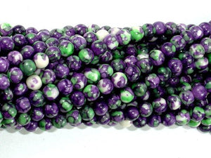 Rain Flower Stone, Purple, 4mm Round Beads-Ebeader