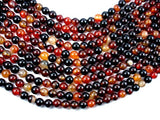 Sardonyx Agate Beads, 8mm Round Beads-Ebeader