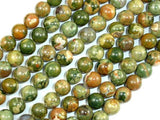 Rhyolite Beads, 8mm(8.5mm) Round Beads-Ebeader