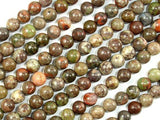 Rainforest Agate Beads, 6mm Round Beads-Ebeader