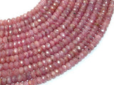 Genuine Ruby, Approx 3.5x6mm Faceted Rondelle Beads-Ebeader