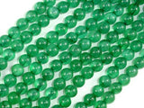 Dyed Jade- Green, 6mm Round Beads-Ebeader