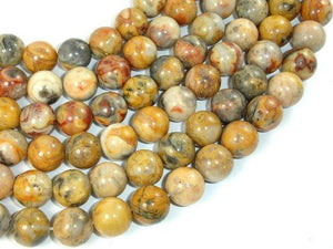 Crazy Lace Agate Beads, 12mm Round Beads-Ebeader