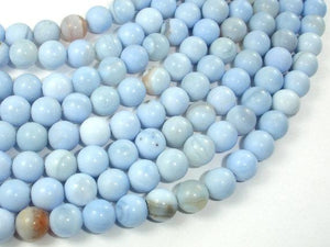 Light Blue Agate Beads, 8mm Round Beads-Ebeader