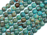 Blue Calsilica Jasper Beads, 10mm Faceted Round Beads-Ebeader
