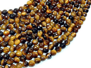 Tiger Eye Beads, 6mm Faceted Round-Ebeader