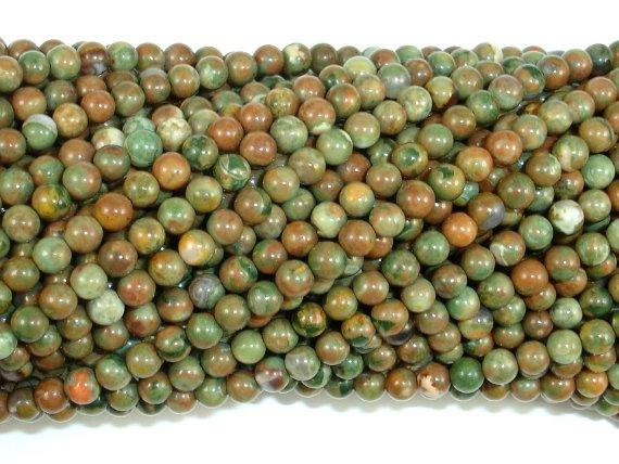 Rhyolite Beads, 3mm Round Beads-Ebeader