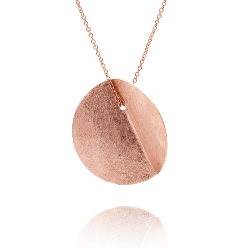 EUCALYPTUS SINGLE PENDANT - ROSE GOLD-FILL