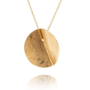 EUCALYPTUS SINGLE PENDANT - YELLOW GOLD-FILL