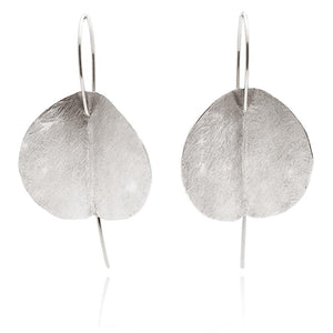LARGE EUCALYPTUS EARRINGS - SILVER