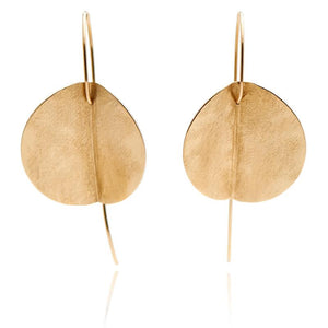 LARGE EUCALYPTUS EARRINGS -YELLOW GOLD-FILL