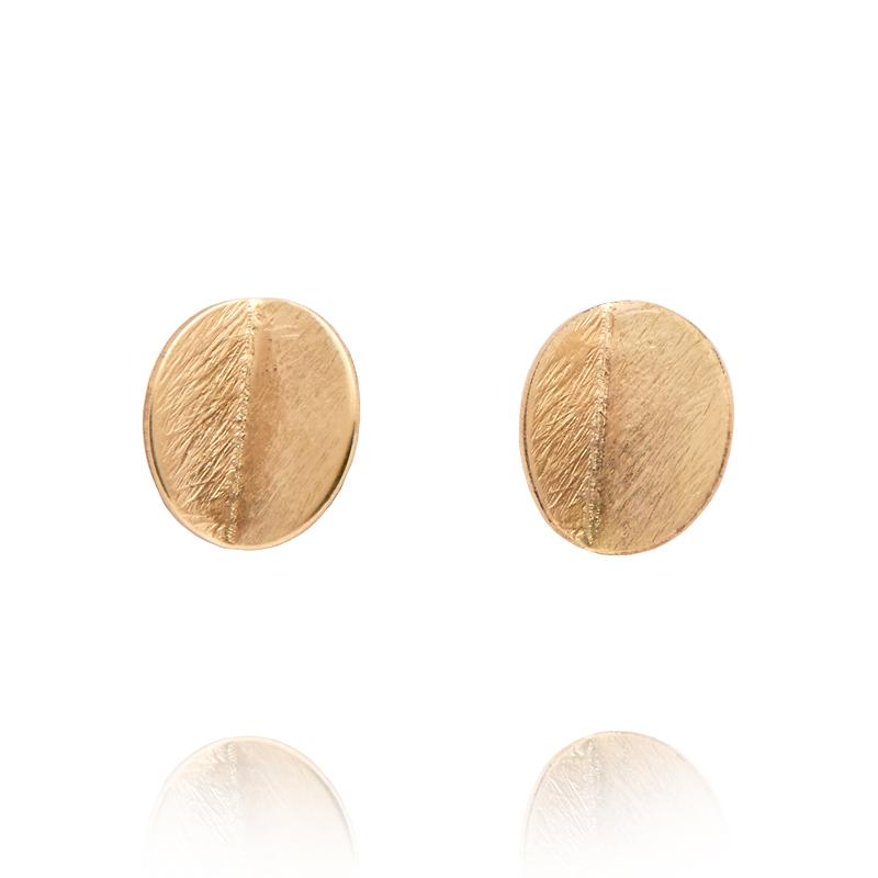 MINI EUCALYPTUS STUDS - YELLOW GOLD-FILL
