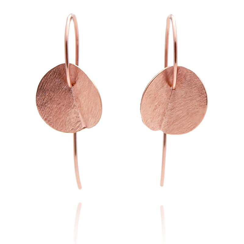 SMALL EUCALYPTUS EARRINGS - ROSE GOLD-FILL
