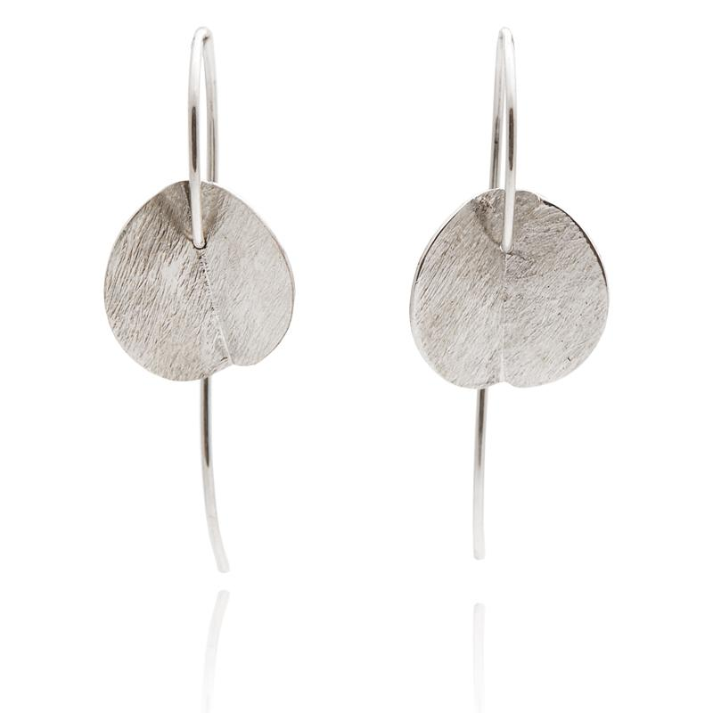 SMALL EUCALYPTUS EARRINGS - SILVER