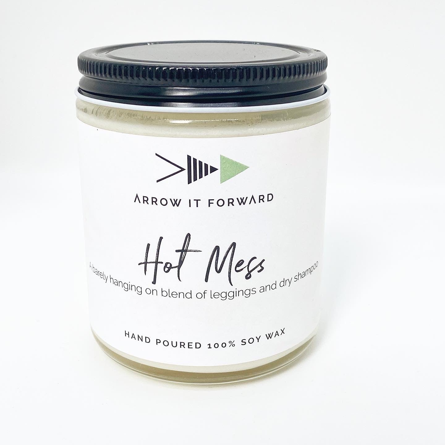 HOT MESS CANDLE - JASMINE, SANDALWOOD, WHITE AMBER