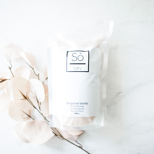 SO LUXURY MINERAL SALT SOAK - BERGAMOT VANILLA