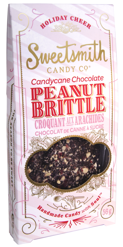 SWEETSMITH CANDY CO - CANDY CANE CHOCOLATE PEANUT BRITTLE