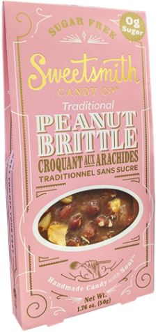 SWEETSMITH CANDY CO - TRADITIONAL PEANUT BRITTLE - SUGAR FREE (KETO)