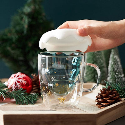 Double-Layer Christmas Tree Cup