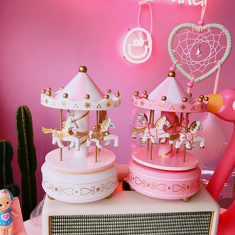 Gift Musical Box Cute Carousel Bedroom