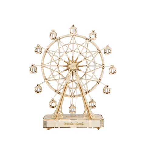 3D Ferris Wheel Wooden Puzzle Game Assembly Music Box Toy