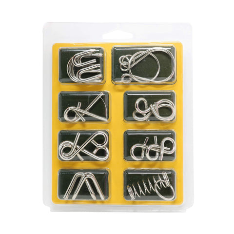 Disentanglement Puzzle Unlock Interlock Toys - IQ Puzzle Brain Teaser Set of 24