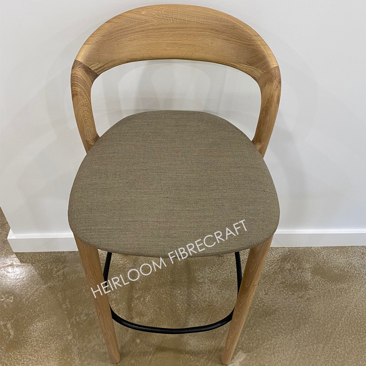 BAR CHAIR - NEVA Light - Upholstered Oak by Artisan